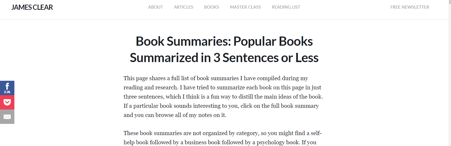 Blinklist book summaries